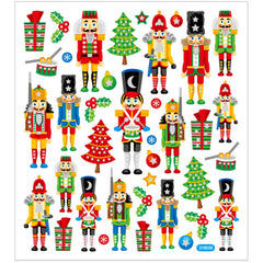 Stickers, sheet 15x16.5cm, approx. 36 pc, nut cracker, 1 sheet