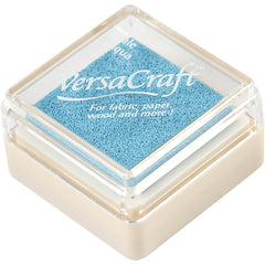 VersaCraft Pale Aqua Ink Pad Textile Fabric Paper Cardboard Stamp - Hobby & Crafts