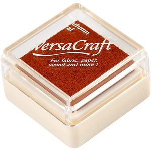 VersaCraft Autumn Leaf Ink Pad Textile Fabric Paper Cardboard Stamp