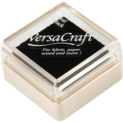 VersaCraft Real Black Ink Pad Textile Fabric Paper Cardboard Stamp - Hobby & Crafts