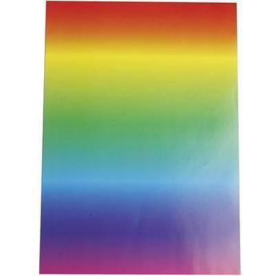 10 x A4 Rainbow Multi-Colour Gloss Paper Craft Card-Making Scrapbooking 128g - Hobby & Crafts