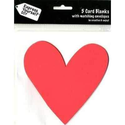 5 Shaped Cards With Matching Envelopes : Red Heart - Hobby & Crafts