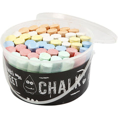 50 x Children Sidewalk Jumbo Chalk 6 Assorted Colours Hopscotch Lines Drawing
