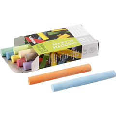 10 x 10 Chalkboard Chalk Assorted Colours Dustless Sticks Quality Blackboard Tool Pieces Boxed 8 cm