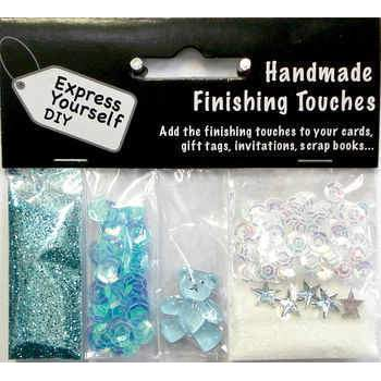 Blue Sequins With Hearts & Glitter - Hobby & Crafts