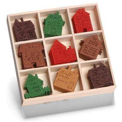 SALE - Christmas FELT Cut Out Embellishments Toppers - Houses - Hobby & Crafts