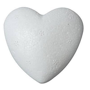 10 x Polystyrene Heart Shape Craft Decorations - 6 cm - Hobby & Crafts