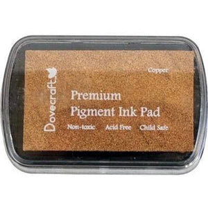 DOVECRAFT Fast Drying Premium Pigment Ink Pads For Stamping - Copper - Hobby & Crafts