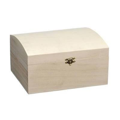 Medium Wooden Treasure Chest To Paint And Decorate - Hobby & Crafts