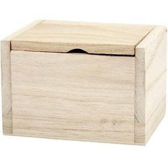 Small Wooden Flip Top Box Lid Storage 10cm To Decorate - Hobby & Crafts