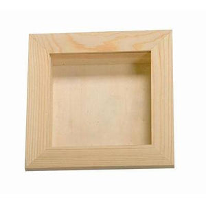 3D Photo Picture Square Frame Wall Hanging Wooden - Hobby & Crafts