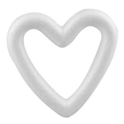 1 x Polystyrene Heart Cut Out Shape Craft Decorations - 13.5 cm - Hobby & Crafts