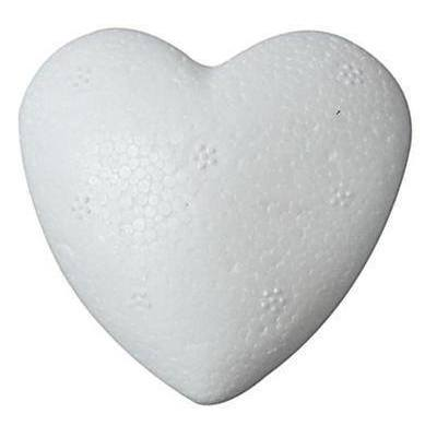 5 x Polystyrene Heart Shape Craft Decorations - 12 cm - Hobby & Crafts