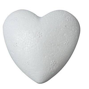10 x Polystyrene Heart Shape Craft Decorations - 8 cm - Hobby & Crafts