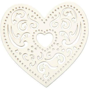 18 Filigree Lace Love Heart Cut Out Wedding Invitation Card Craft Embellishments - Hobby & Crafts