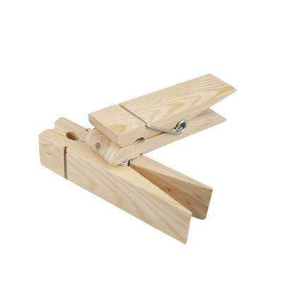Large Wooden Clothes Pegs Table Setting 15 cm - Hobby & Crafts