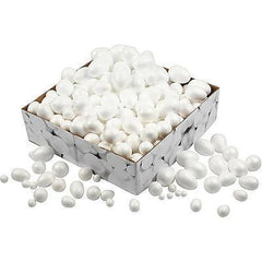 Polystyrene Balls & Eggs - Bulk Buy 550 Assorted - Hobby & Crafts