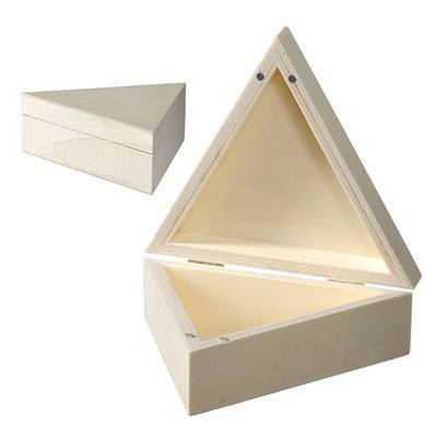 Wooden Triangle Box Magnetic Lid To Paint And Decorate - Hobby & Crafts