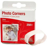Self-Adhesive 250 Pieces Clear Photo/Picture Corners Card Making Scrapbooking - Hobby & Crafts