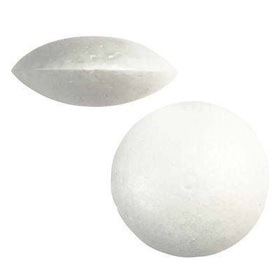 20 x Polystyrene FLAT Shape BALLS Craft Decorations - 7.5 cm - Hobby & Crafts