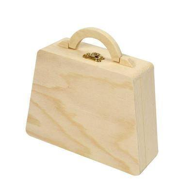 18cm Wooden Pine Bag Handle/Clasp Personalise Decorate Craft Create Decoration - Hobby & Crafts