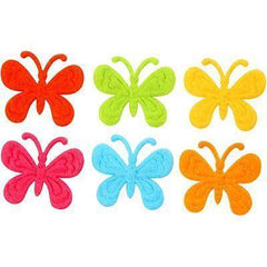Felt Butterfly Butterflies Decoration Craft Card Making Embellishment 6 Colours - Hobby & Crafts