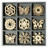 Wooden Decorations Embellishments Toppers - Butterfly - Hobby & Crafts
