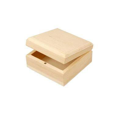 Natural Wooden Jewellery 9cm Storage Decorate Magnet Wood Small Trinket Box - Hobby & Crafts