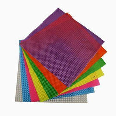 20 x Reflective Holographic Plastic Thick Sheets 24x25cm Childrens Craft Colours - Hobby & Crafts
