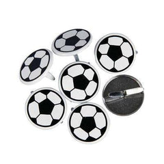 30 x Football Round Boys Sports Card Making Embellishment Pack 2cm Scrapbooking - Hobby & Crafts