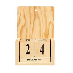 Wooden Block Calendar Personalise/Decorate Wood Craft Wall Hanging/Standing NEW - Hobby & Crafts