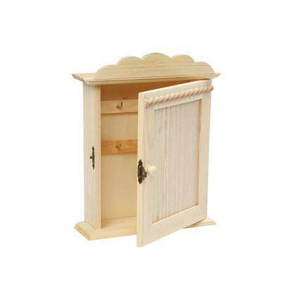 Small 23cm Wooden Craft Key Cabinet Storage Shelf Decorate/Paint Design Create - Hobby & Crafts