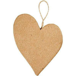 Crazy Love Heart Shaped Personalise Craft Make Own Hanging Plaque Decoration x 1 - Hobby & Crafts
