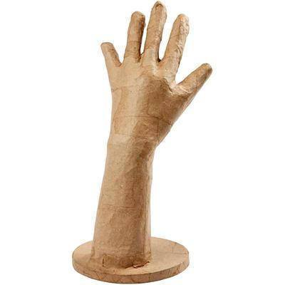 28cm Hand Shaped Model Cast Stand Craft Paper Mache Create/Decorate Personalise - Hobby & Crafts