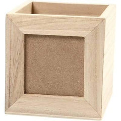 Small Wooden Storage 10cm Box Window Frame Decorate Personlise Art Wood Craft - Hobby & Crafts
