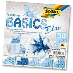 Origami Paper Assorted Double Sided 50 Sheets 15x15cm - Blue - Hobby & Crafts
