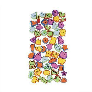 55 Assorted Foam Stamps Re-usable Bulk Buy Childrens Craft Card Making Stamping - Hobby & Crafts