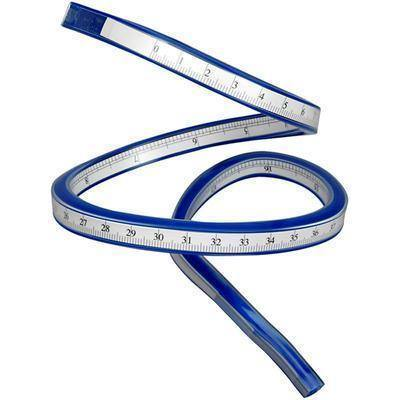 Flexible Ruler 50cm Plastic Bendable Craft Scale Curve Bendy Kids Tape Measure - Hobby & Crafts