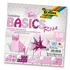Origami Paper Assorted Double Sided 50 Sheets 15x15cm - Pink - Hobby & Crafts