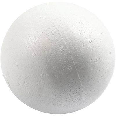 5 Polystyrene Balls Craft Decorations Modelling Round Sphere Christmas 10 cm - Hobby & Crafts