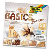 Origami Paper Assorted Double Sided 50 Sheets 15x15cm - Brown - Hobby & Crafts