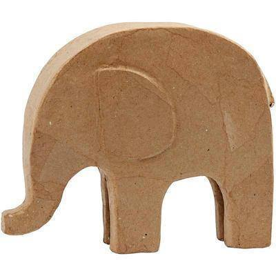 Elephant Animal Shaped Personalised Craft Paper Mache - Hobby & Crafts