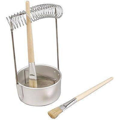 Brush Washer 23cm Cleaner Stand Practical Solution Aluminium Metal Artists Tools - Hobby & Crafts