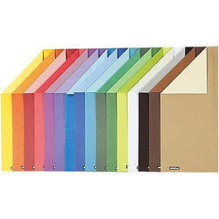 16 x A4 Card Stock Assorted Colours Double Sided Making Scrapbooking Craft 250g - Hobby & Crafts