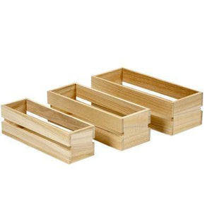 3 x Vintage Wooden Fruit Crates Boxes Storage Personalise Decorate Craft Garden - Hobby & Crafts
