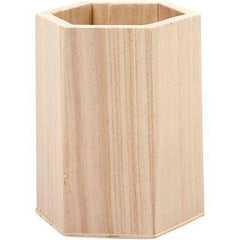 Wooden Craft Pencil Holder Desk Organiser Create Decorate/Decoration Personalise - Hobby & Crafts