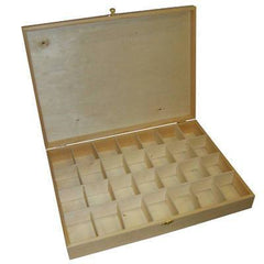 Wooden 28 Compartments Tea Bags Storage Treasure Box To Decorate - Hobby & Crafts