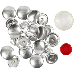 12 x Stianless Steel Round DIY Covered Buttons WIth Tool Set Sewing Crafts 22 mm - Hobby & Crafts