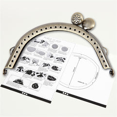 Brushed Brass Curved Metal Purse Clasp Kit With Sewing Holes Crafts Accessories - Hobby & Crafts