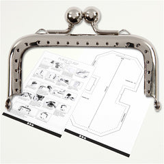 Silver Colour Metallic Square Purse Clasp Kit With Sewing Hole Craft Accessories - Hobby & Crafts